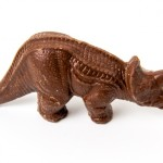 Chocolate Triceratops Sculpture